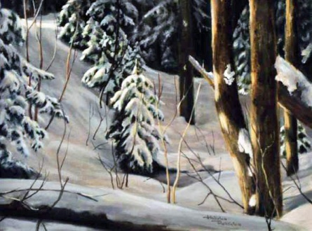 By the Ski Trail by Judy Henderson