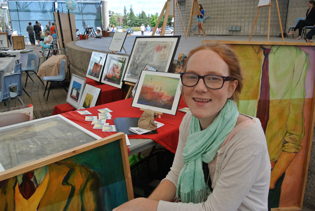 Katie Huckson is making a go as an artist because she loves to do it.