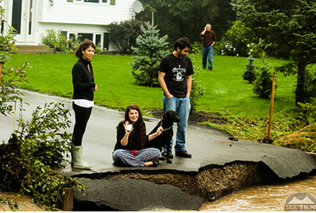 Many driveways were washed away