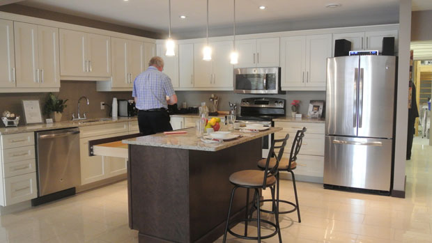 A sample of what the kitchen can look like. On display in the showroom