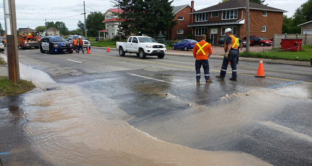 WATER MAIN BREAK SECOND LINE SEPT 12
