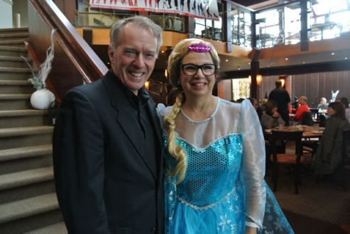 Jim Cronin from Public Relations and Event Management and a Princess
