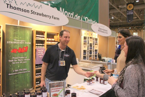 Thomson Strawberry Farm (Sault Ste. Marie) Brad Morley is 'berry' excited to introduce his new line of strawberry jams, sauces, syrups and frozen berries at the 2014 Royal Agricultural Winter Fair in Toronto. This year is the first time that Thomson Strawberry Farm has joined other Northern Ontario equine and agri-businesses in the FedNor-supported Northern Ontario Pavilion. This year's edition of The Royal runs November 7-16 and is expected to draw more than 320,000 visitors.