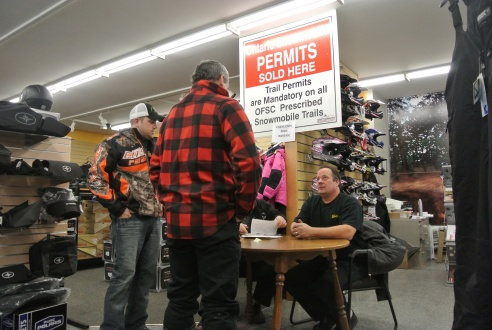 Snowmobile permits were also available for an early season