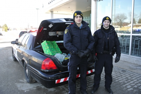 OPP officers were more than happy to take donations at Rome's