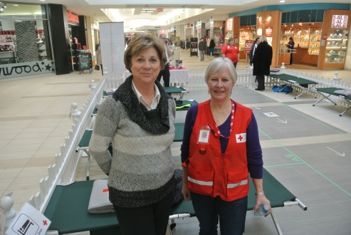 Councillor Judy Hupponen and Beverly McCoy, Red Cross volunteer