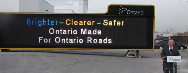 Ontario Highway Signs Colour