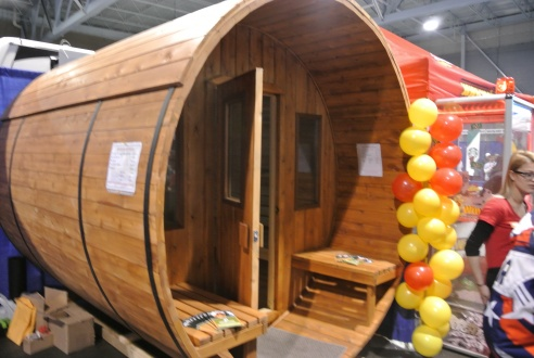 Now that's what we call a sauna!