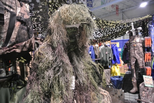 We thought this was some outfit from a monster movie, turns out its camouflage for hunting