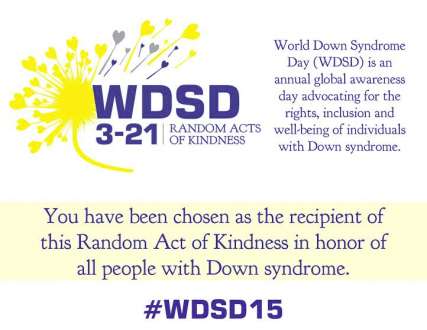 World Down Syndrome Day 2015 Card