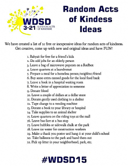 WDSD 3-21 Random Acts of Kindness