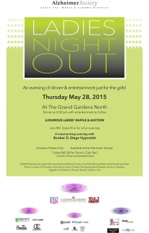 Alzeimer's Ladies Night Out 2015