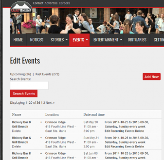 Add & Manage Events