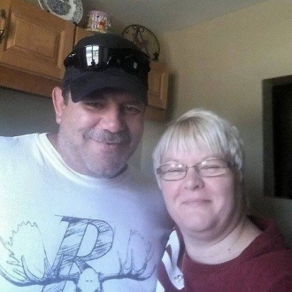 This selfie is of my sweetie Kevin Swanson and myself Heidi Parr they day we moved in together Aug,2, 2014 love the smiles on our face because we know there are many more years ahead of us