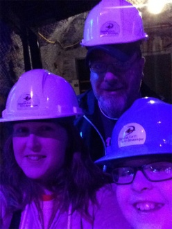 Here's our Selfie submission from March Break at Dynamic Earth in Sudbury!! We're sporting our hard hats, getting ready to enter the mines!!! ~Tanya, Scott & Ethan Gray