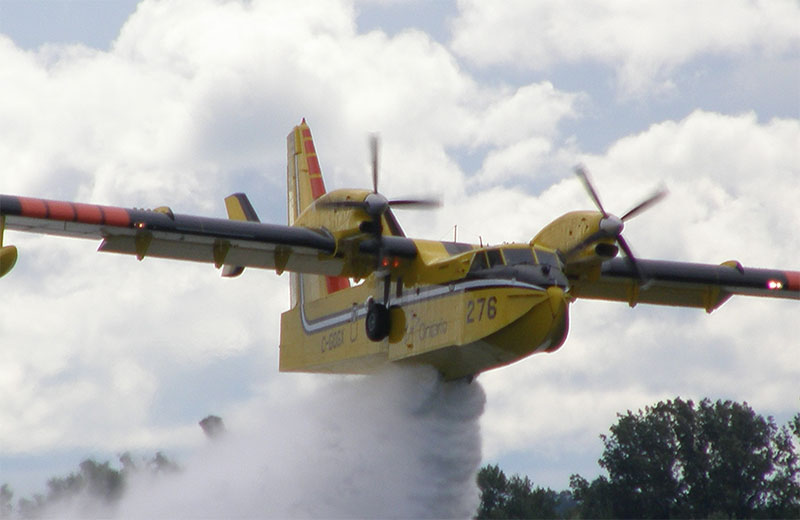 Viewer submitted photo by JB The MNR Waterbombers are part of the big airshow!