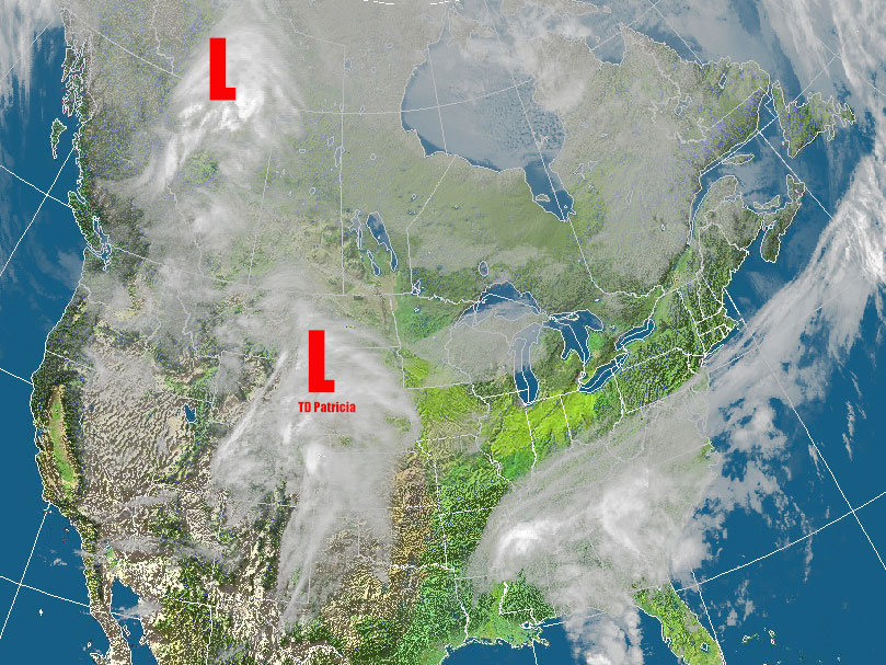 Two systems will merge over the Great Lakes Wednesday causing heavy rain and potentially high winds