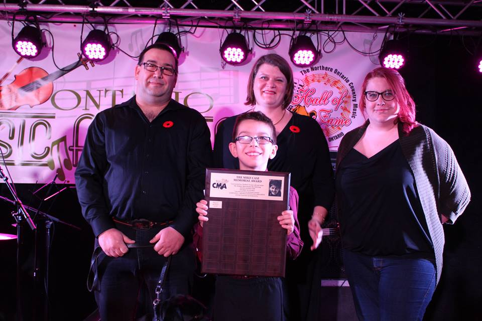 Don Bedard, North ( Miguel's assistance dog), Miguel, Brenda Chartrand, Jenny