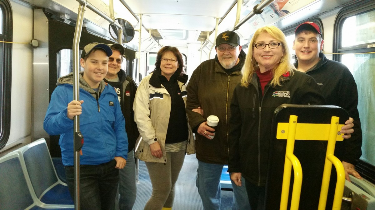 Gary Creighton Scott Turnbull Lou Anne Young and Sault Transit Crew.
