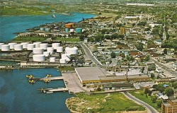 This ariel shot shows the city's waterfront in the early 1970's - a huge difference in 40 years. What will the city look like in another 40 years?