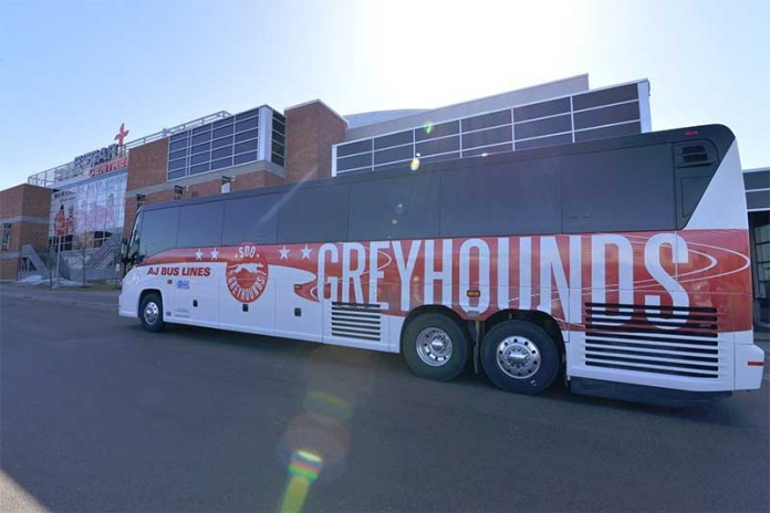 Soo Greyhounds Bus