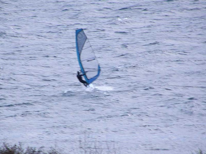 Wind Surfing the St. Mary's