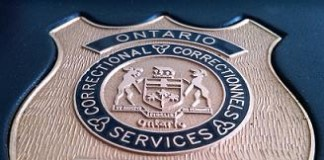 Ontario Correctional Services Issued Badge