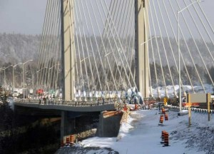 Damage to Nipigon River Bridge