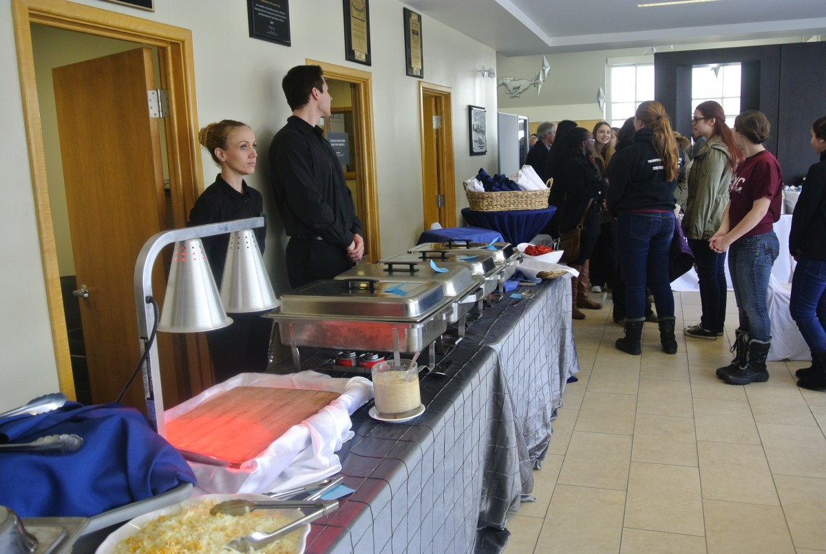A buffet lunch was served for all those attending