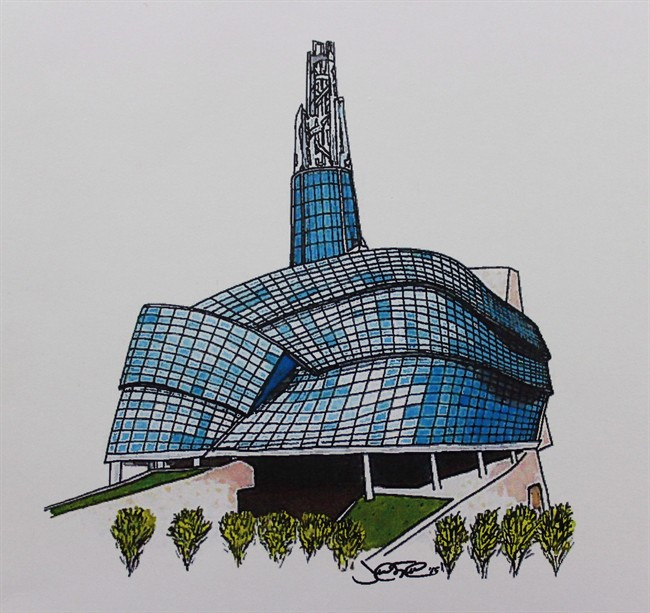 Trudeau Sketch - Canadian Museum for Human Rights