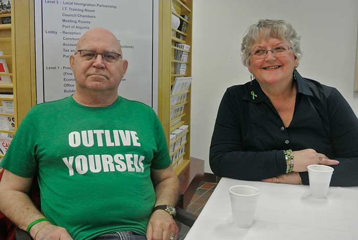 Reg and Cathy Beaudette. Reg underwent a lung transplant after waiting 19 months for a suitable lung
