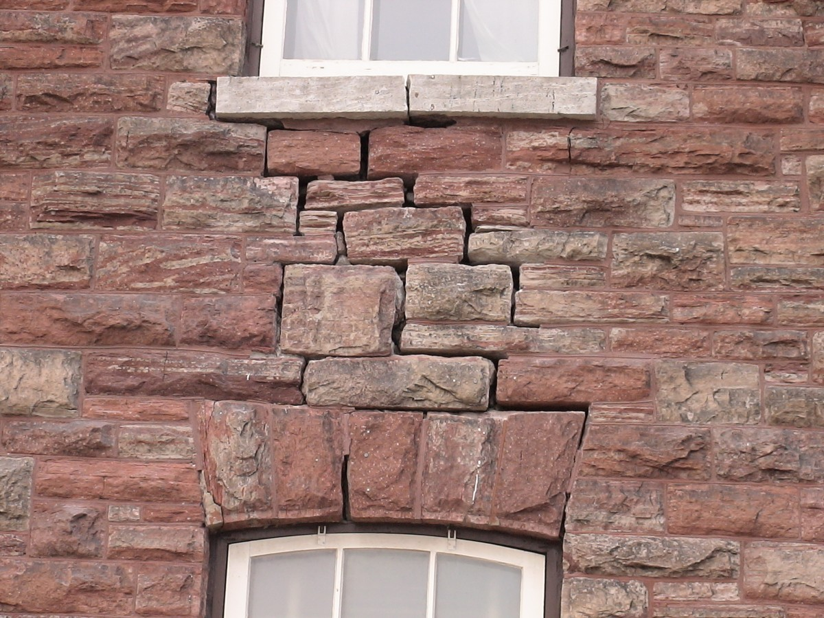 Cracks in the wall are just some of the major structural work that is being fixed.