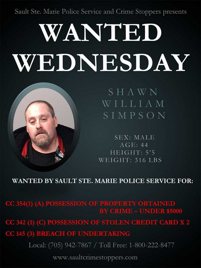 Wanted Wednesday: Shawn William Simpson
