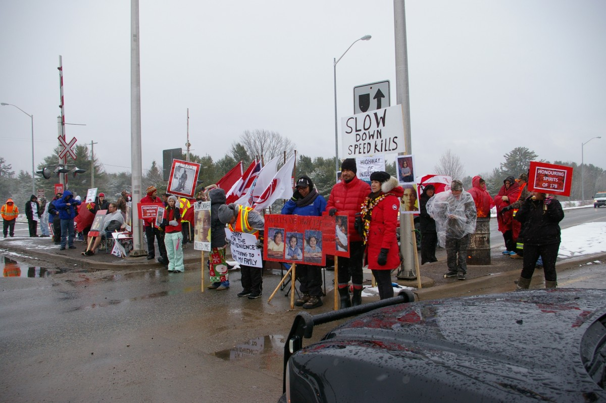 Highway 17b protest