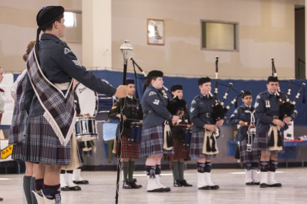 Pipers of the 155 Air & 2310 Army perform.  Photo Credit: Sean Clement.