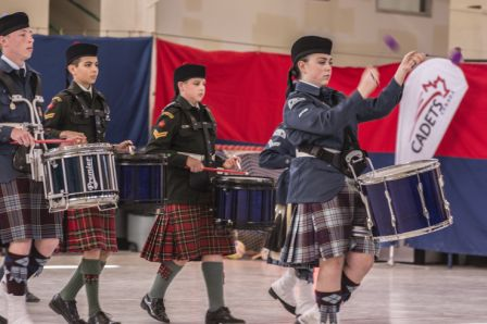 Drummers of the 155 Air & 2310 Army perform.  Photo Credit: Sean Clement.
