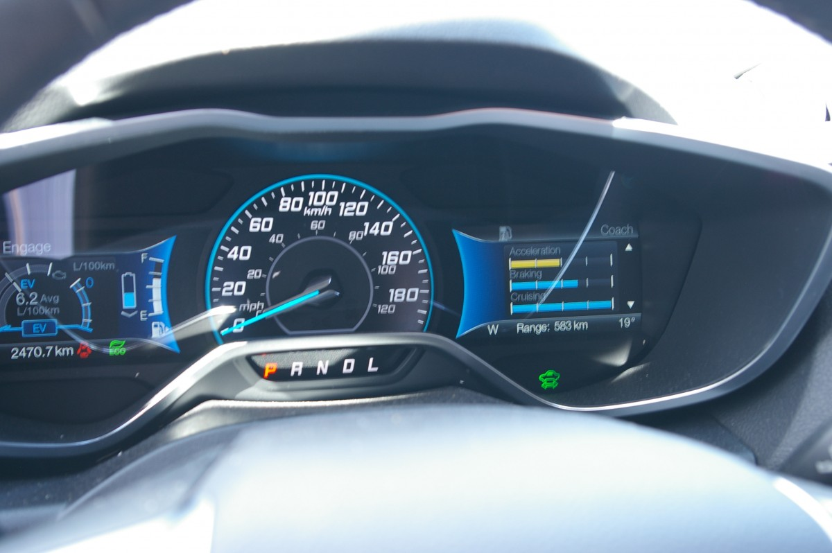 This dash image on the right shows how efficient the driver has been with their braking, accelerating and so on.