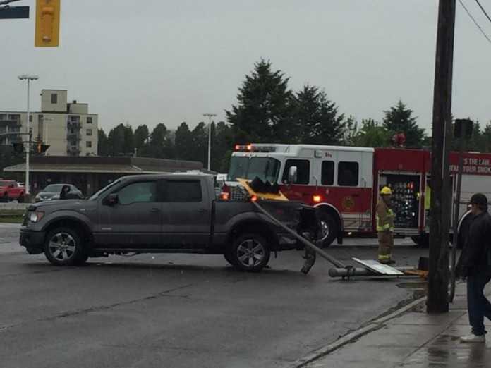 accident at bay and dennis streets