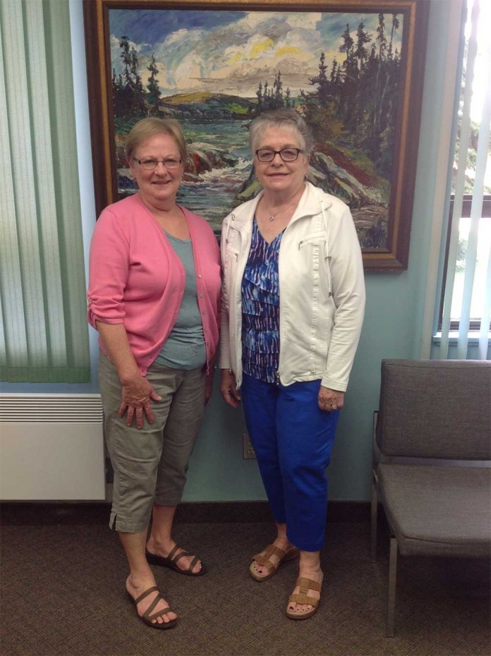 Shirley McCarthy and Mary Ann Goold