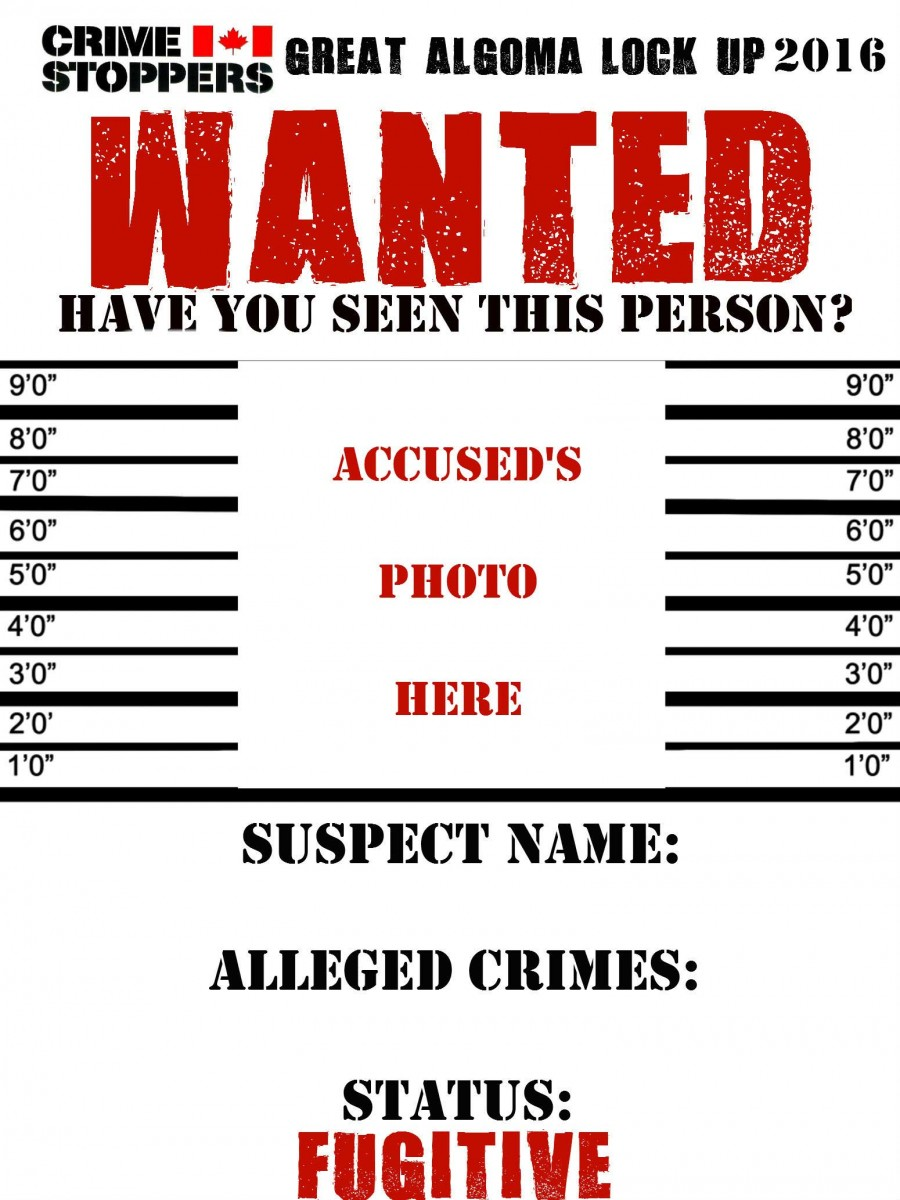 WANTED Poster Great Algoma Lock Up 2016