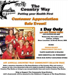 The Country Way Customer Appreciation Sale