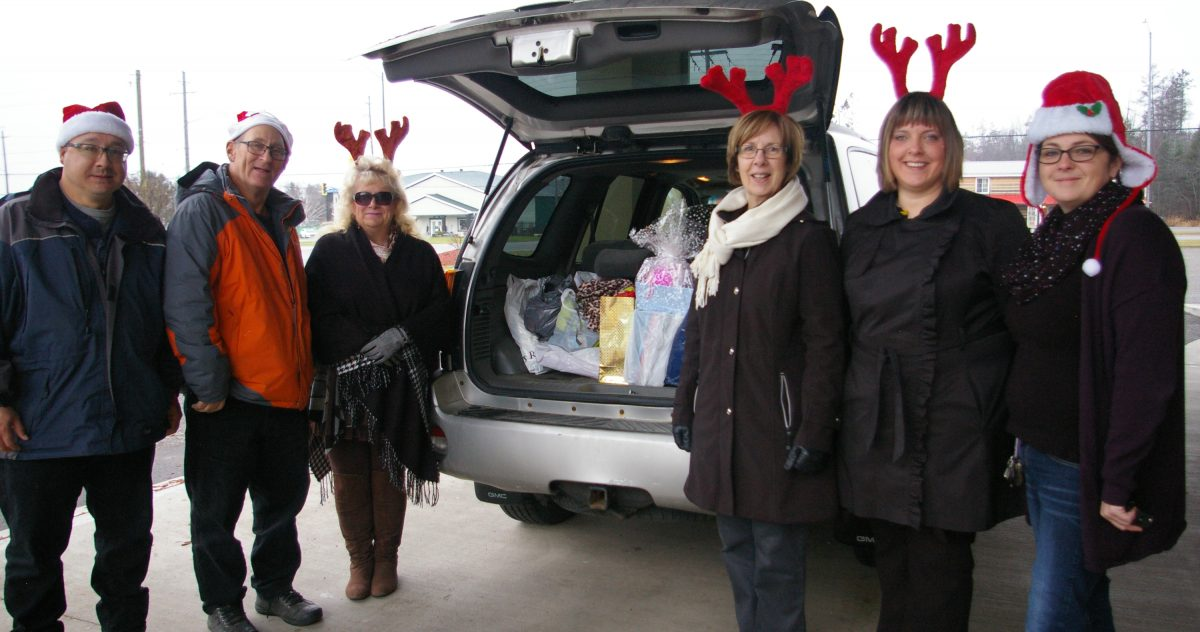 The van was stuffed with donation going to Christmas Cheer