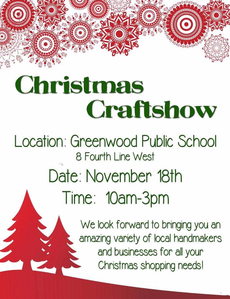 1st Annual Greenwood Christmas Craft Sale Fundraiser