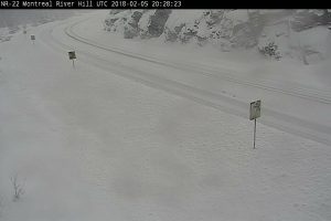 Highway 17 Closed Winter Conditions