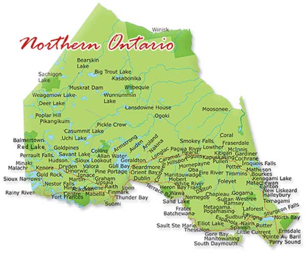 Northern Ontario Map
