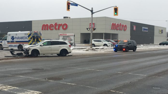 Accident Wellington and Churchill