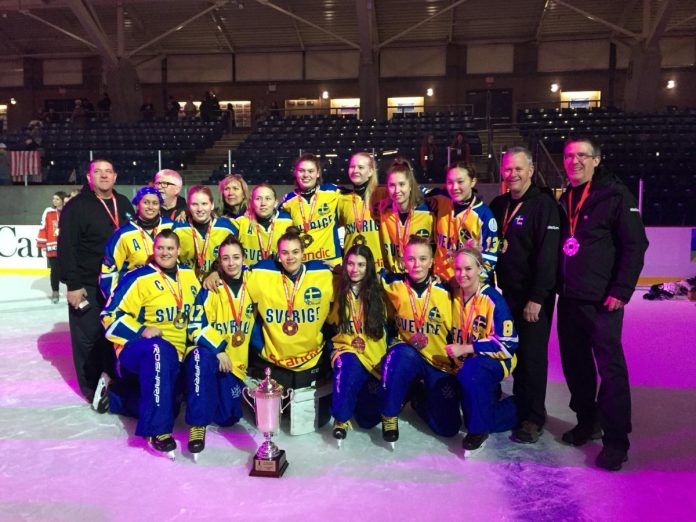 Local Ringette Coaches with Team Sweden