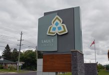 Sault College Main Sign