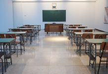 Classroom with Desks