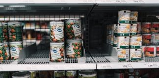 Canned Food on Shelf